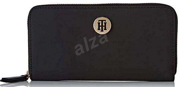 TOMMY HILFIGER The Core Large Zip Wallet AW0AW06840 Black - Peněženka