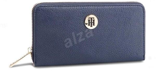 TOMMY HILFIGER The Core Large Zip Wallet AW0AW06840 Navy Blue - Peněženka