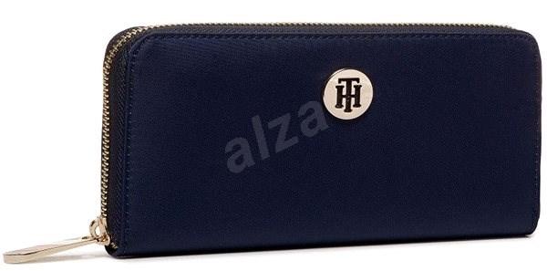 TOMMY HILFIGER Poppy Large Zip-Around Solid Wallet AW0AW08009 Navy Blue - Peněženka