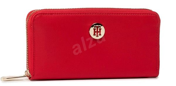 TOMMY HILFIGER Poppy Large Zip-Around Solid Wallet AW0AW08009 Red - Peněženka