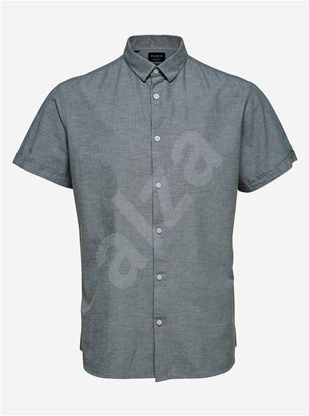 Šedá košile s příměsí lnu Selected Homme M - Košile