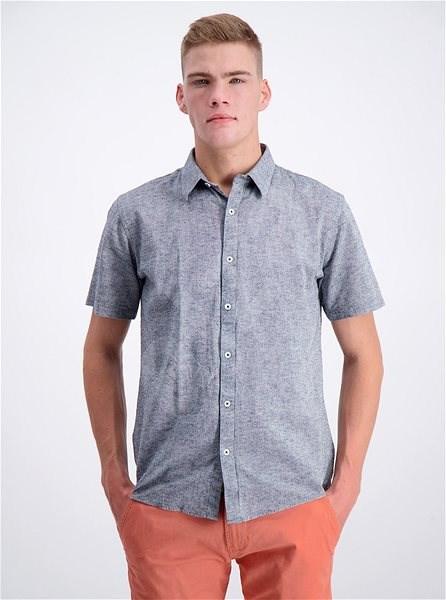 Šedá košile s příměsí lnu Shine Original M - Košile