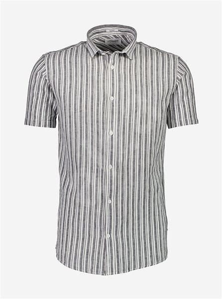 Šedá pruhovaná lněná košile Lindbergh S - Košile