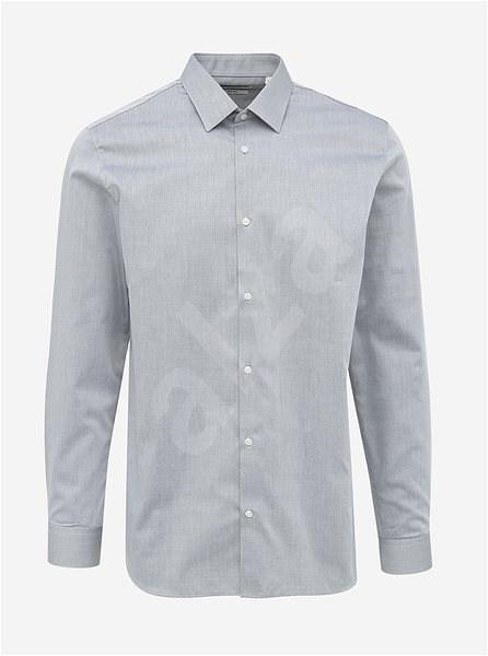 Šedá slim fit košile Jack & Jones Non Iron XL - Košile