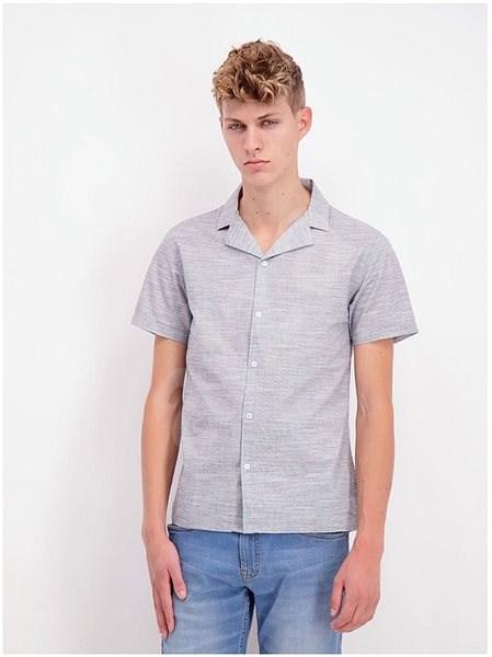 Šedá žíhaná košile Shine Original XXL - Košile