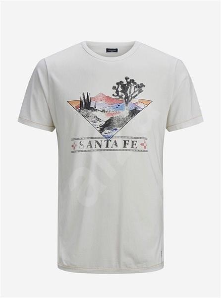 Bílé tričko s potiskem Jack & Jones Harry M - Pánské tričko