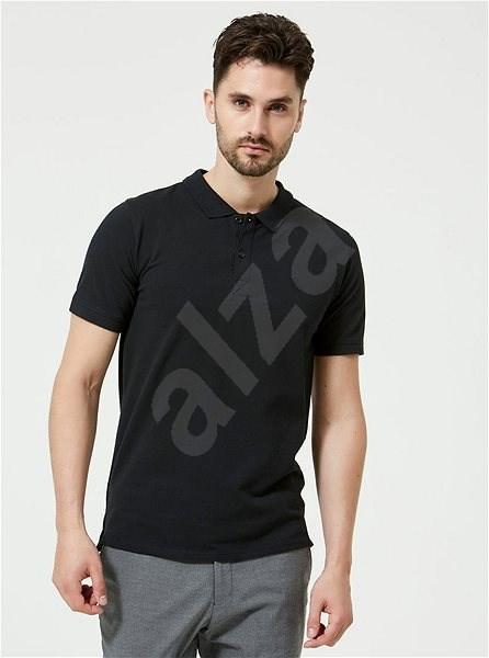Černé basic polo tričko Selected Homme Haro L - Pánské tričko