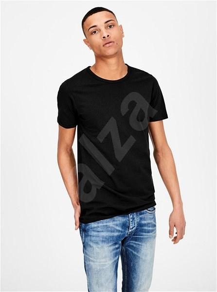 Černé basic tričko Jack & Jones Basic S - Pánské tričko