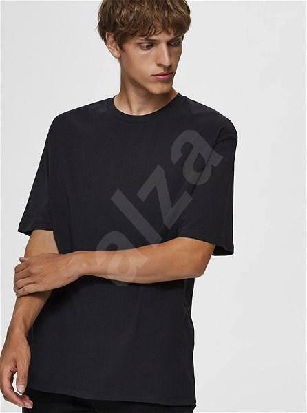 Černé basic tričko Selected Homme Malcolm S - Pánské tričko