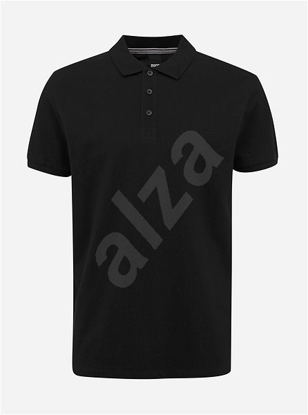 Černé pánské basic polo tričko ZOOT Lionel S - Pánské tričko