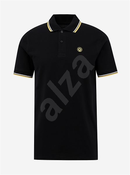 Černé polo tričko Jack & Jones Noah S - Pánské tričko