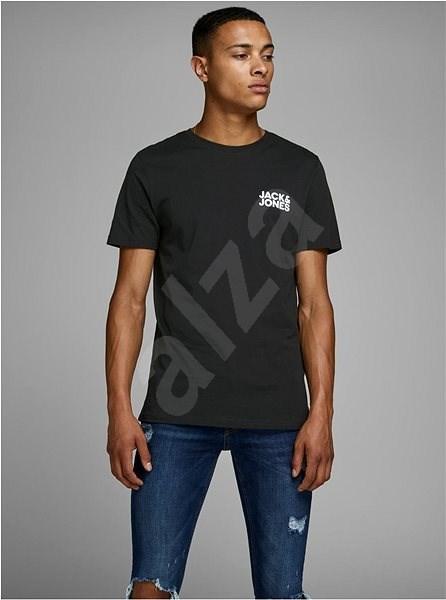 Černé tričko s potiskem Jack & Jones Corp XXL - Pánské tričko