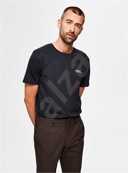 Černé tričko Selected Homme Lenox XXL - Pánské tričko