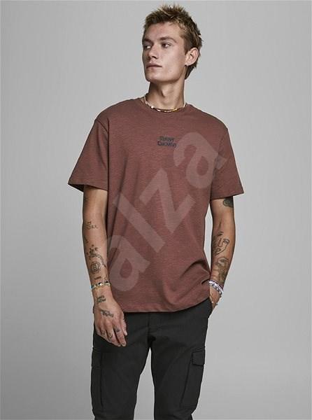 Hnědé tričko Jack & Jones Prbladean XXL - Pánské tričko