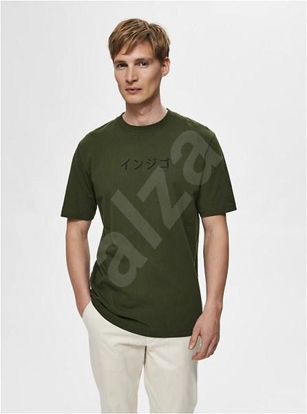 Tmavě zelené tričko Selected Homme Ryan XL - Pánské tričko