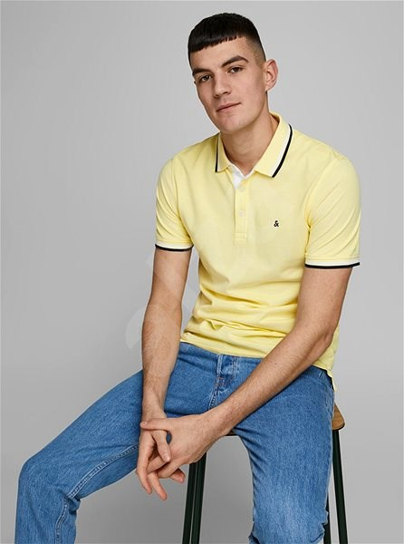 Žluté polo tričko Jack & Jones Paulos M - Pánské tričko