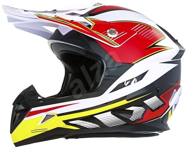 ZED X1.9 (bílá/černá/červená/žlutá, vel. S) - Helma na motorku