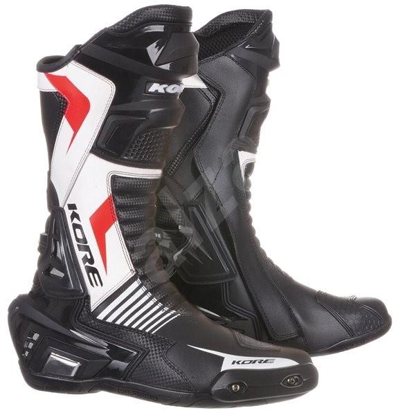 KORE Sport černé/bílé/červené 48 - Boty na motorku