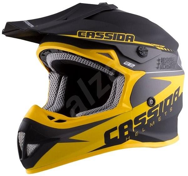 CASSIDA LIBOR PODMOL limitovaná edice, (dětská černá matná/žlutá/šedá, vel. L) - Helma na motorku