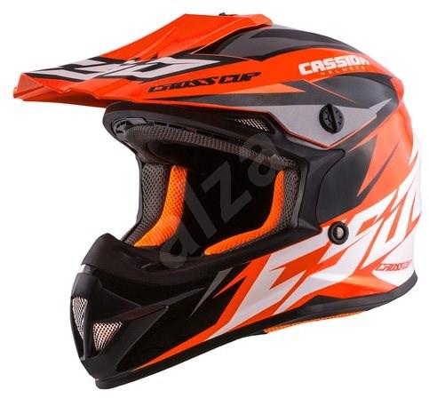 CASSIDA Cross Cup Two Kids, (oranžová fluo/bílá/černá/šedá, vel. S) - Helma na motorku