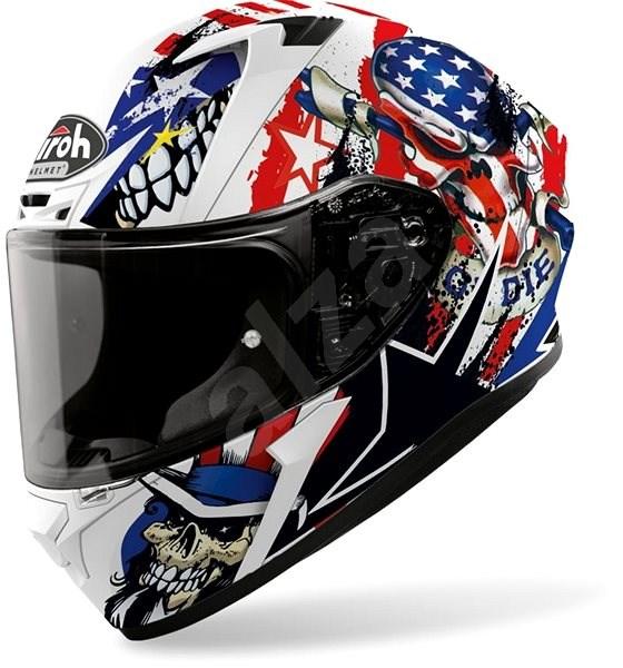 AIROH VALOR UNCLE SAM bílá/modrá/červená XS - Helma na motorku