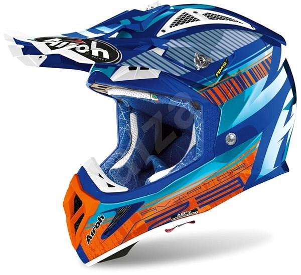 AIROH AVIATOR NOVAK 2.3 AMSS tyrkysová/oranžová/modrá XL - Helma na motorku