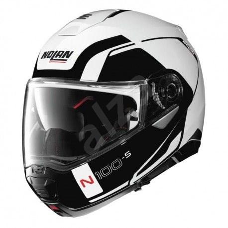 Nolan N100-5 Consistency N-Com Metal White 19 XS - Helma na motorku