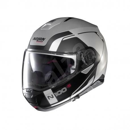 Nolan N100-5 Consistency N-Com Flat Silver 21 XL - Helma na motorku