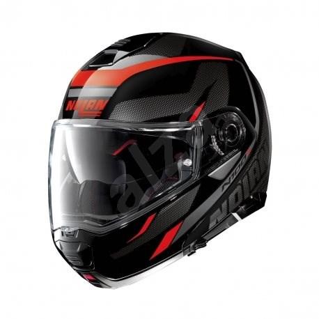 Nolan N100-5 Lumiére N-Com Glossy Black 39 XS - Helma na motorku