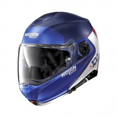 Nolan N100-5 Plus Distinctive N-Com Flat Imperator Blue 29 M - Helma na motorku