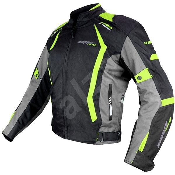 Cappa Racing AREZZO textilní černá/zelená L - Bunda na motorku