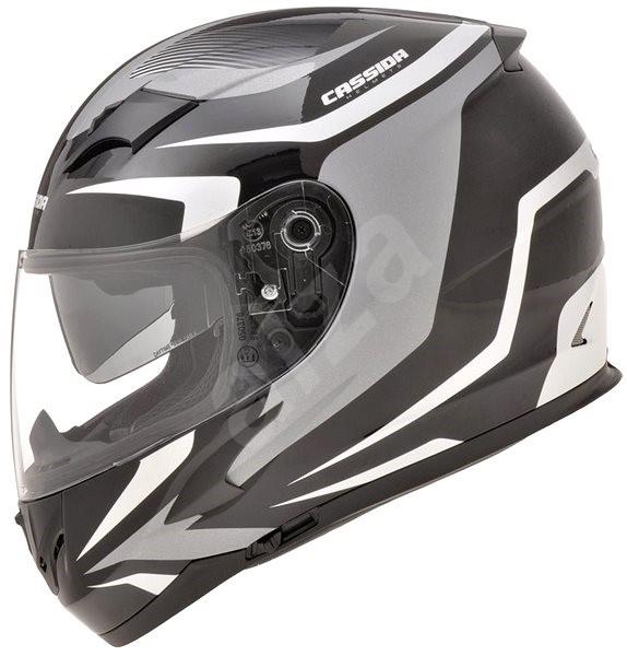 CASSIDA Integral 2.0 (černá/bílá/šedá, vel. S) - Helma na motorku