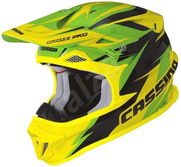 CASSIDA Cross Pro (zelená/žlutá fluo/černá, vel. XL) - Helma na motorku
