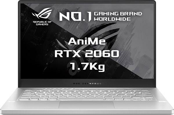 Asus ROG Zephyrus G14 GA401IV-AniMe136T Moonlight White s AniMe Matrix kovový - Herní notebook