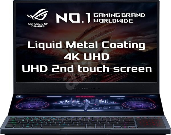 Asus ROG Zephyrus Duo GX550LXS-HC060T Gunmetal Gray kovový - Herní notebook