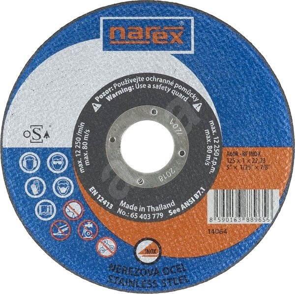 Narex A 60 BF INOX, 125mm - Řezný kotouč