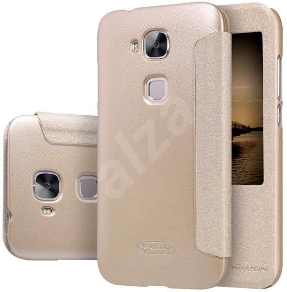 Nillkin Sparkle S-View pro Huawei G8 zlaté - Pouzdro na mobilní telefon