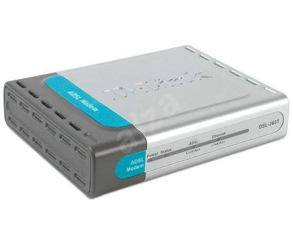 D-Link DSL-360T externí ADSL modem (Annex B), 1x RJ11, 1x LAN -