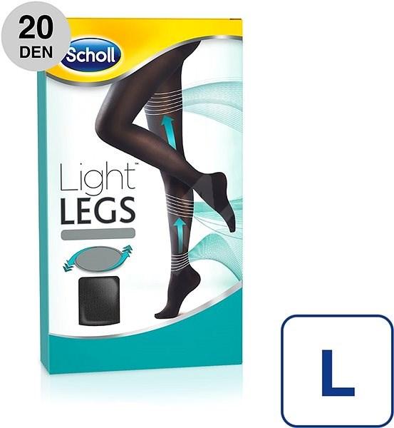 SCHOLL Light Legs 20DEN kompresní punčochové kalhoty černé L - Punčochy