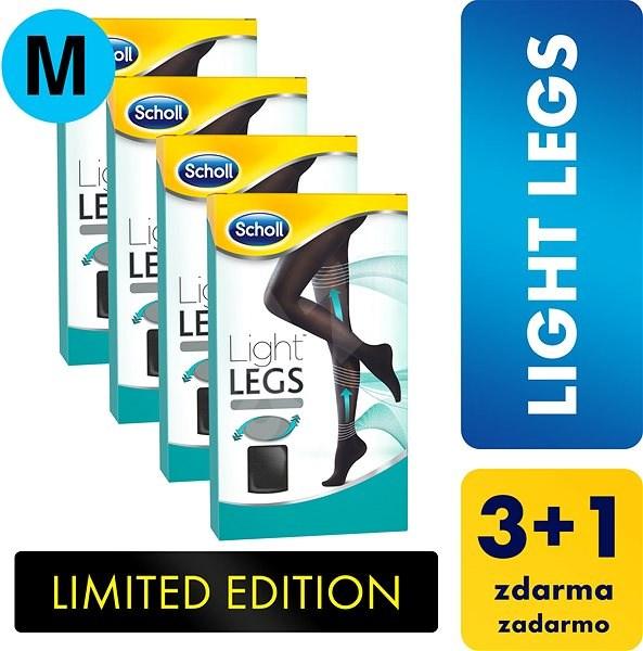 SCHOLL Light Legs 60DEN kompresní punčochové kalhoty černé M 3+1 ks -  Punčochy fd37c78c12