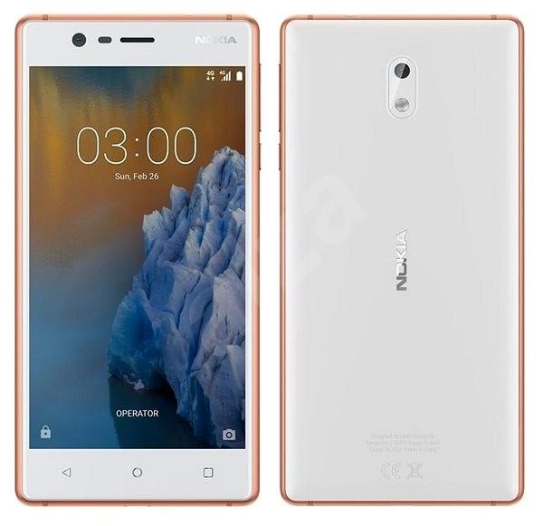 Nokia 3 White Copper Dual SIM - Mobilní telefon