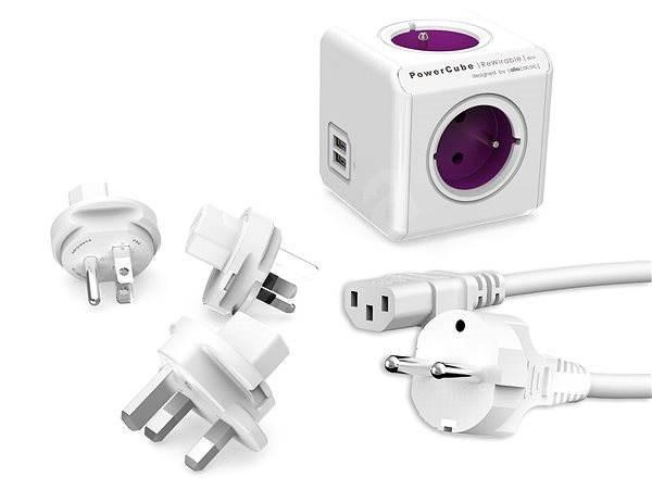 PowerCube Rewirable USB + Travel Plugs + IEC kabel - Zásuvka