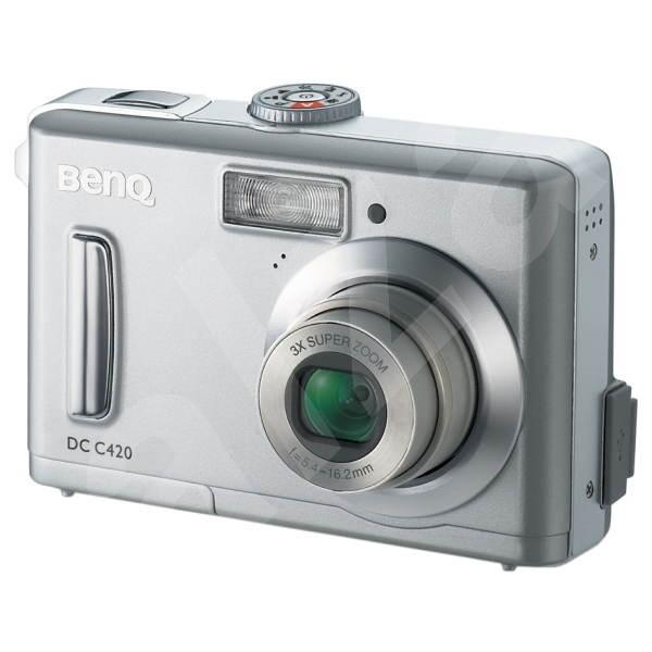 """BenQ DC C420, 4 mil. bodů CCD, 3x/ 4x zoom, 1.8"""" LCD, 12MB + SD karty, USB, 2xAA - Digitální fotoaparát"""