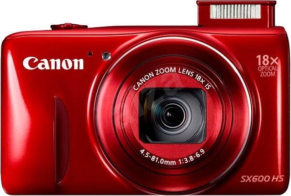 Canon PowerShot SX600HS červený - Digitální fotoaparát
