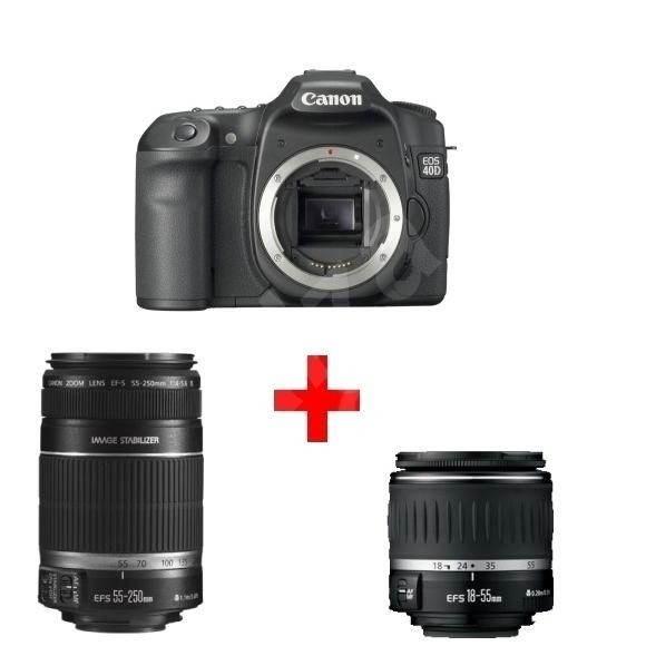 Digitální zrcadlovka Canon EOS 40D s objektivy EF-S 18-55mm a EF-S 55-250mm - Digitální zrcadlovka
