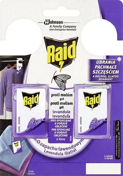 RAID against moths Lavender 2pcs - Insect Repellent