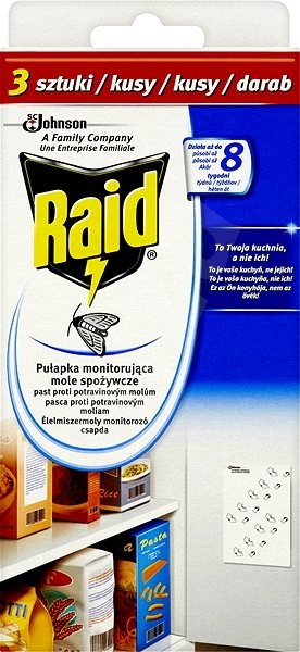 RAID proti potravinovým molům 3 ks - Odpuzovač hmyzu