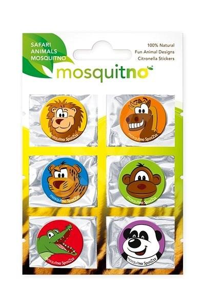 MOSQUITNO Single Sheet SpotZzz Sticker Safari Animals - Repelentní nálepky