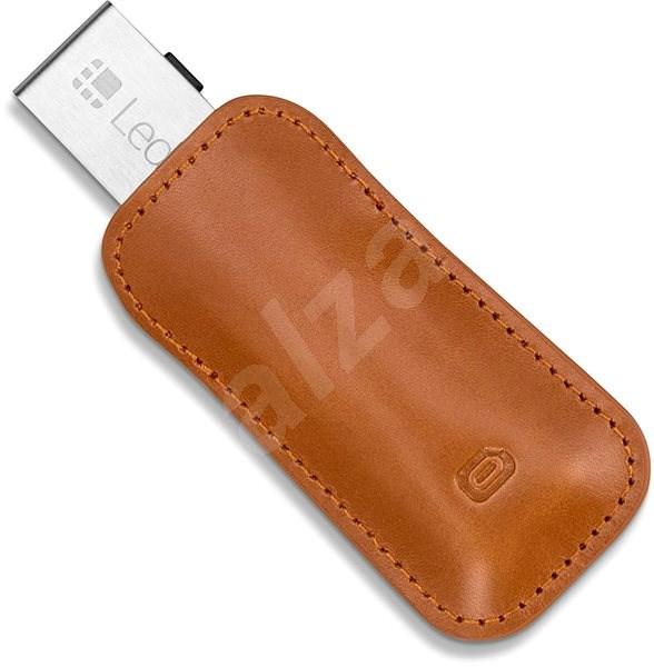 Odzu Leather Case Brown Ledger Nano S - Kožené pouzdro