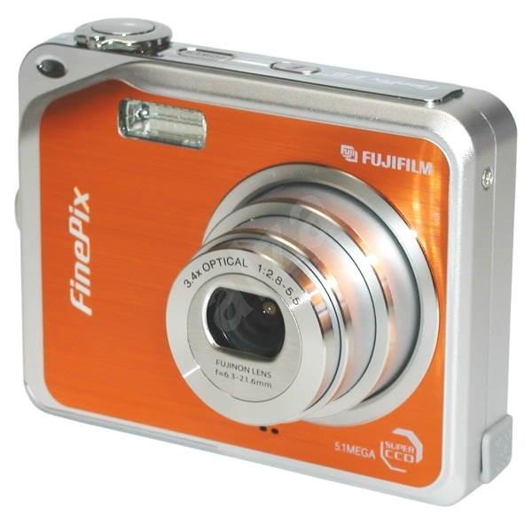 """FUJIFILM FinePix V10 Zoom oranžový (orange), CCD 5 Mpx, 3x zoom, 3"""" LCD, Li-Ion, xD - Digitální fotoaparát"""